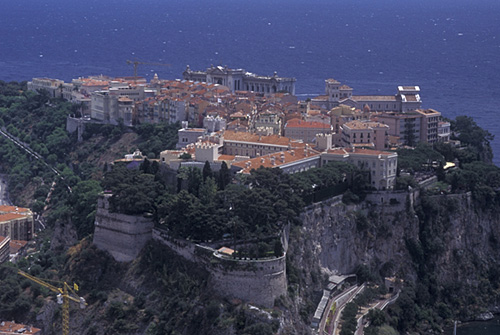id0582 monaco aerial view of the city of monacoville in the principality of monaco along the mediterranean sea