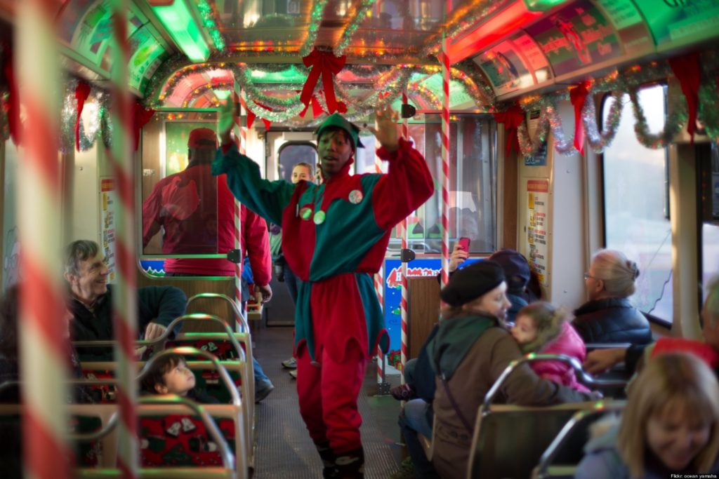 My hat is off to the outstanding crew of the CTA (Chicago Transit Authority) and their Holiday Express train. It brought so many smiles to all the kids.